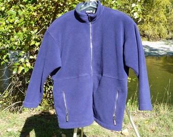 PATAGONIA XL zippered long sleeve blue Patagonia Cardigan Jersey Patagonia Extra Large Blue Zippered Cardigan Sweater Patagonia Very Big XL