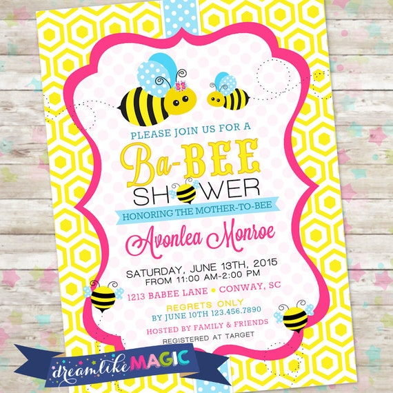 Mommy to bee invitation baby shower bee baby shower invite filmwisefo