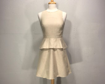90s Banana Republic linen dress natural sleveless spring summer dresssize  small resort dress layered