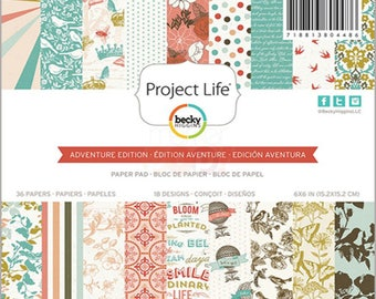 "Project Life 6x6"" Adventure Collection Paper Pad"