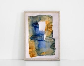 Original watercolor watercolor Painting art abstract Watercolor abstract painting art minimalist