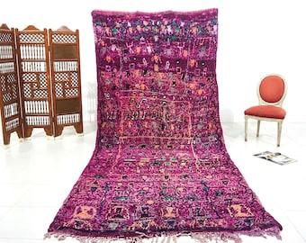 Vintage Purple Berber talsint Beniourain 5x12 Berber BENIOURAIN Hallway Moroccan rug Traditional Rug Moroccan Vintage Kilim Rug runner kelim