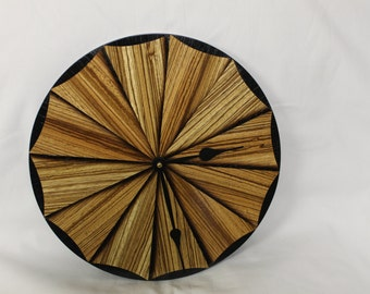 11-1/2 inch Sand Shaded Wood Clock