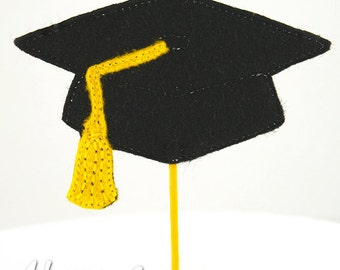 Graduation Cap Cupcake Topper Embroidery Design, machine embroidery, ITH, in the hoop, 4x4, school, graduation embroidery design, student