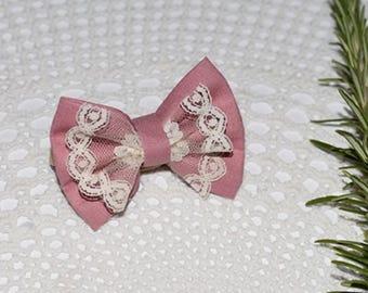 Bohemian Princess bows, Blush & Lace or Dusty Pink