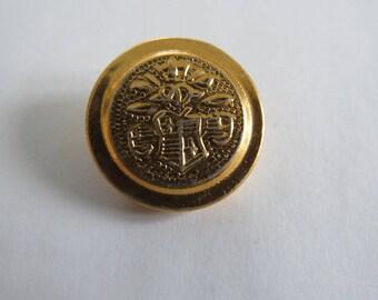 Button * vintage gold Crest