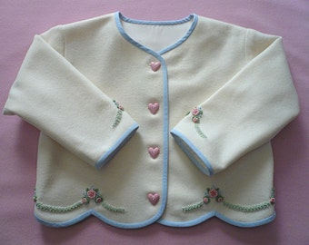 Snug As A Bug - Embroidered Wool Jacket