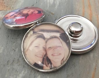 Personalized Photo Snap charm ginger snap it noosa interchangeable men women unisex gift gingersnap 18mm circle metal for bracelet & jewelry