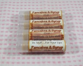 Lip Balm, Pancakes & Syrup Lip Stuff - Handmade Lip Balm, Natural Lip Balm, Flavored Lip Balm, Sweet Lip Balm, Pancakes and Pajamas