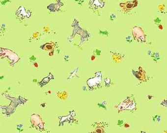Country Days - Farm Animals Green from Red Rooster