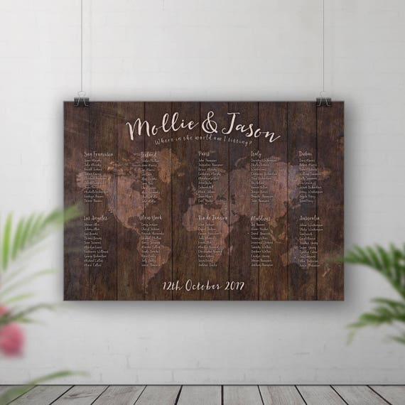 Rustic wedding seating chart world map table plan table plan rustic wedding seating chart world map table plan table plan map travel theme wedding adventure wedding seating plan travel table decor gumiabroncs Choice Image