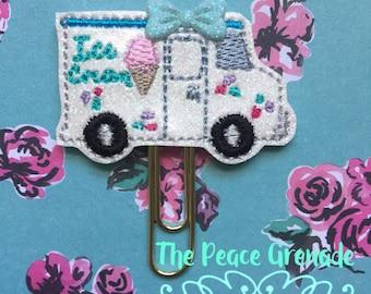 Ice cream truck planner clip