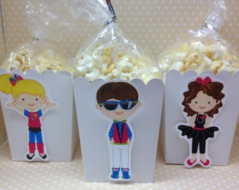 Awesome 80's Party Popcorn or Favor Boxes