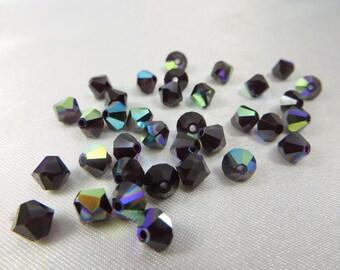 25 Swarovki Crystal Garnet AB 5mm 5301 Bicone Jewelry Beads