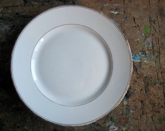 A vintage French compotier, white compotier, pedestal plate, cake stand, fruit plate, serving dish, porcelain