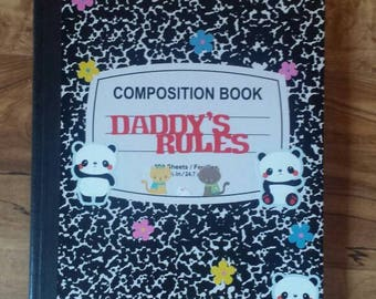 "DD/lg ""Daddy's Rules"" Journal"