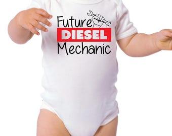 Baby Future Diesel Mechanic Onesie - Gifts for Baby