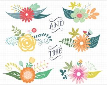 Clipart - Vintage Flower Clusters / Mother's Day - Digital Clip Art (Instant Download)