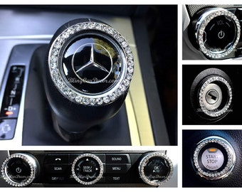 DIY Crystal Car Bling Ring Emblems, Interior Car Accessory For Buttons,  Knobs, Rhinestone