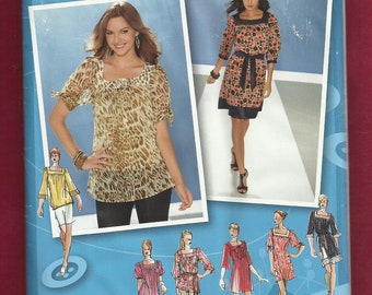 Simplicity 3535 Boho Chic Tunics or Dresses Inspired by Project Runway Sizes 4 - 12 UNCUT