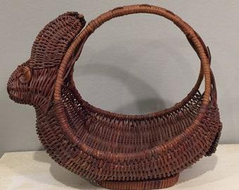 Vintage Bunny Shaped Hen Basket
