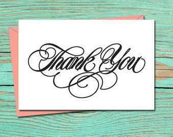 Thank You PRINTABLE CARD, Thank You Card, Printable Wedding Stationery, Thank You Digital Download, Thank You Card, Thank You E-Card 10