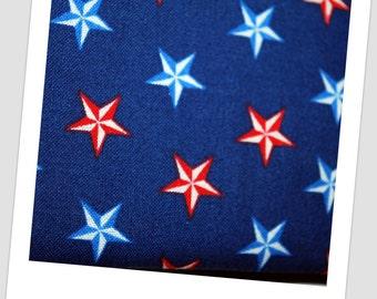 Boys Rockabilly Tie in Nautical Stars Red White & Blue Print