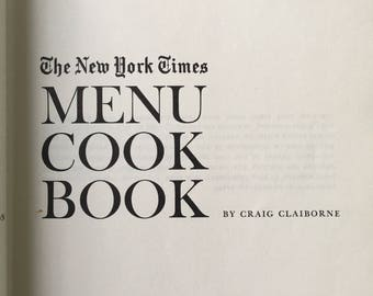 The New York times menu cook book hard bound