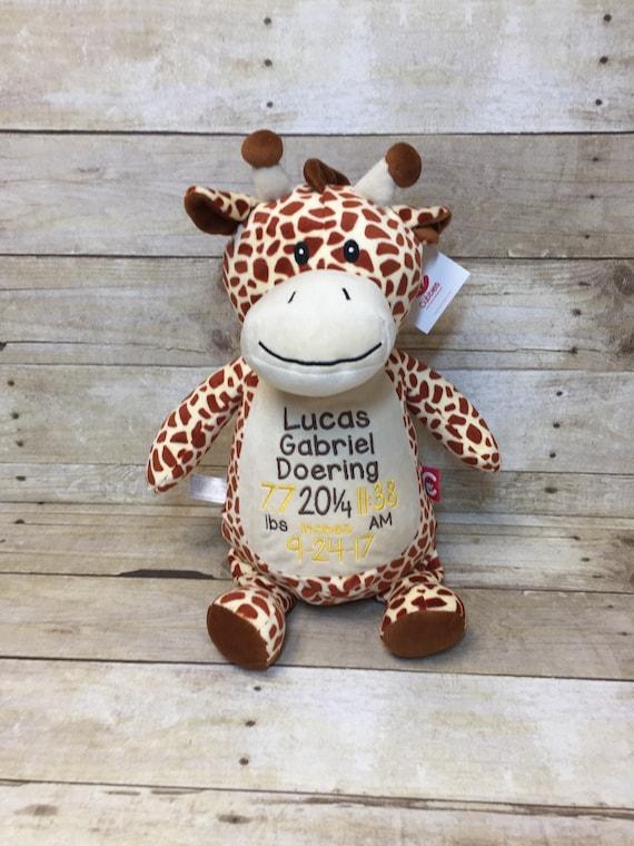 Giraffe birth stat stuffed animal personalized baby gift giraffe birth stat stuffed animal personalized baby gift personalized stuffed animal embroidered giraffe negle Gallery