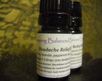 Headache Essential Oil blend