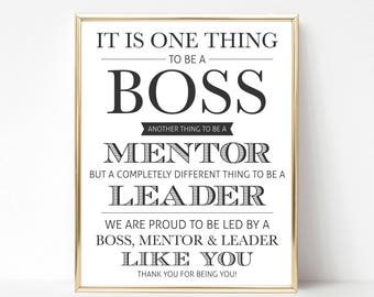 Digital Boss Quote Gift (We) | Best Boss Quote Gift | Boss Appreciation Day | Boss's Day | Boss Gift | Boss Printable