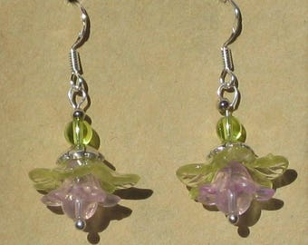 Fairy Flower Earrings with Glass Beads