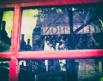 Big Ben print, London Print, Big Ben, Red telephone box, London, Phone Booth, Home Decor, Wall Decor, Housewarming gift, Wall Decor, London