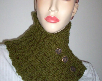 Green BasketWeave Neck warmer