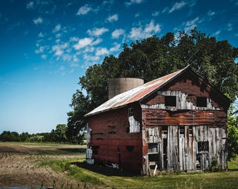 Richly Textured Barn Photograph Print