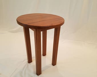 African Mahogany Occasional Table-Furniture-Hardwood-Table