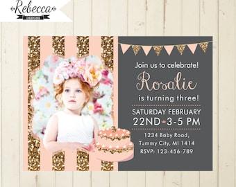Birthday girl invitation vatozozdevelopment birthday girl invitation stopboris Images