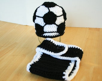Soccer outfit for baby, Baby soccer outfit, soccer hat and diaper cover for boys and toddlers, boy soccer outfit, girl soccer outfit