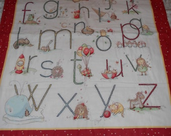 ABC Embroider Panel Blanket