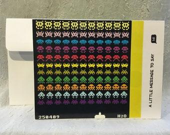 Space Invaders Handmade Card