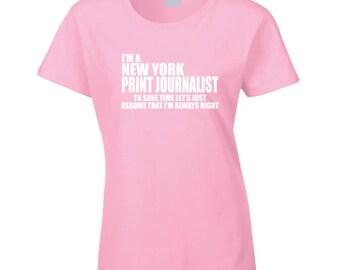 New York Journalist T Shirt