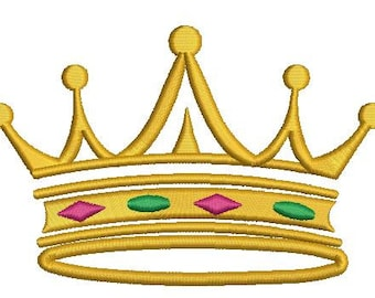 crown embroidery design -   three sizes
