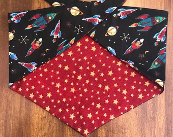 To the Moon and Back - Reversible Tie On Pet/Cat/Dog Bandana/Scarf