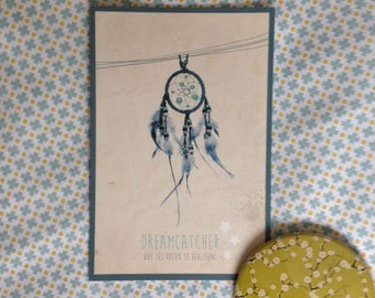 """Map postcard """"Dreamcatcher"""" that your wishes come true!"""