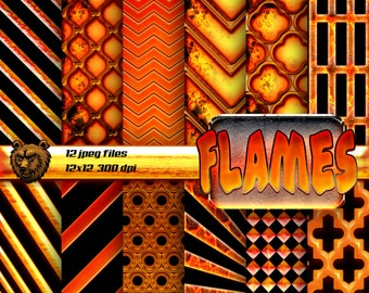flames digital paper, flames digital paper, flames scrapbook paper, flames background