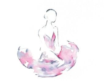 Ballerina, Tutu, Painting of a Ballerina, Ballet, Dancer Art
