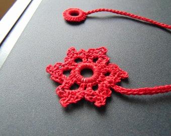 Red snowflake bookmark
