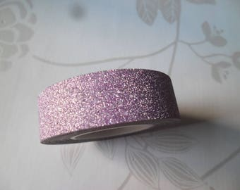 x 10 meters of tape masking tape pink glittery repositionable 15 mm