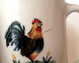 Stoneware Rooster Measuring Cup 3/4 cup