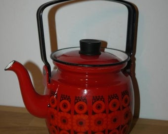 "Vintage Kettle - Finel - Kaj Franck - Arabia - ""Kehrä"" - Coffee / Tea Pot"